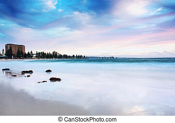 Glenelg Beach (South australia) - Sunset at Glenelg beach ...