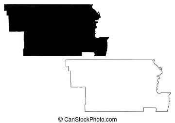 Glenn County, California map vector