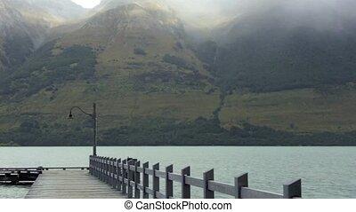 Glenorchy wharf on lake wakatipu - Landscape from Glenorchy...