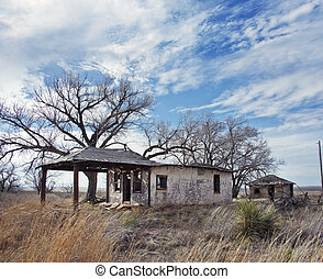 Glenrio, next to the TX-NM state line, USA. March 10 2019....