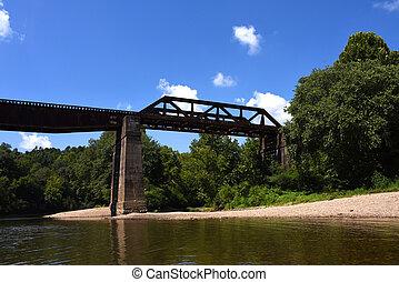 Glenwood Railroad Bridge Over Caddo River - Rusting with age...