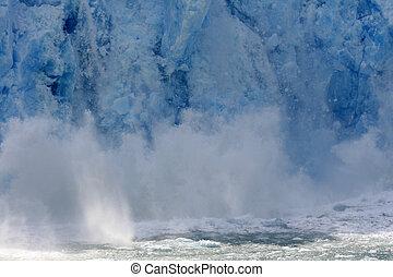 gletscher- bucht, alaska, usa