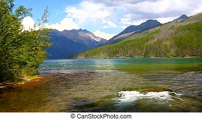 Gletscher,  national,  Park,  kintla, Flüßchen