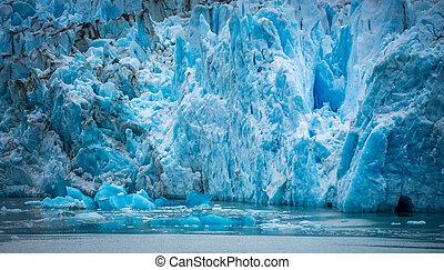 gletscher, prächtig, spitze, sawyer, fjord, tracy arm