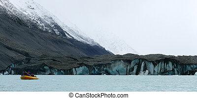 gletscher, rand, a, see