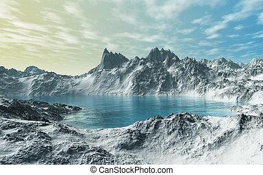 Gletscher, See