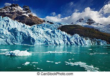 gletscher, spegazzini, argentinien