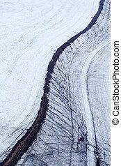 gletsjer, 1, steen, rivier