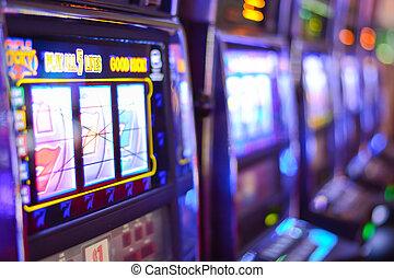 gleuf, las vegas, het gokken verslaving, machines, las