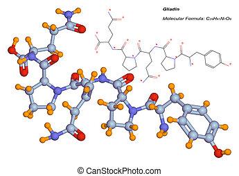 gliadin molecule, component of gluten