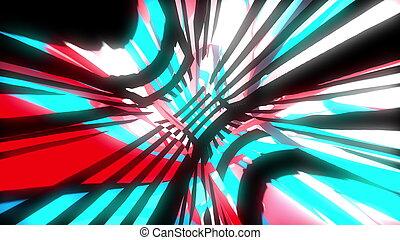 glich, render, スペース, 動的, 効果, 明るい, 動き, 発生させる, コンピュータ, ビデオ, 背景...