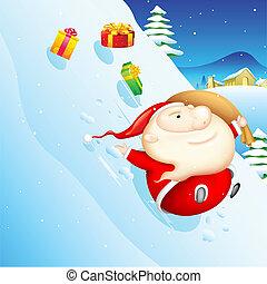 glidande, jultomten