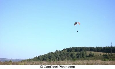 glider flying in the sky