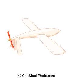 Glider icon in cartoon style