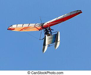 Glider plane in the sky