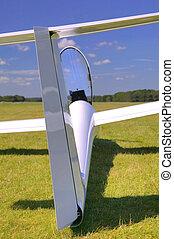 Glider rear view.