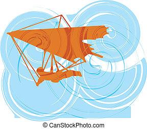 glider., vetorial, enforcar, ilustração
