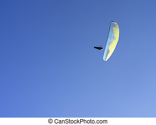 Gliding in the air with a parachute