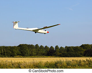 gliding in to land