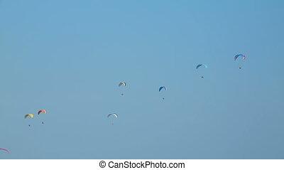 Gliding on a sunny day