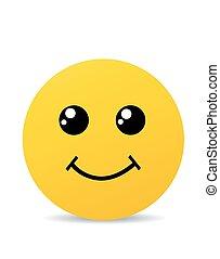 glimlachen, gele, vrolijke
