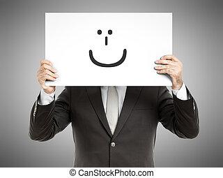 glimlachen, zakenmens