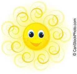 glimlachen, zon