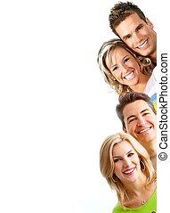 glimlachende mensen