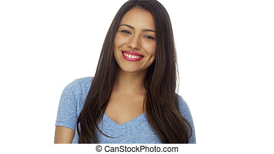 glimlachende vrouw, mexicaanse