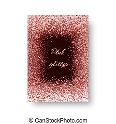 Glimmer background with brilliant light - Foil background...