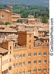 Glimpse of Siena in Italy