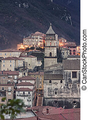 Glimpse of the city of Campagna in the province of Salerno