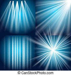 glimt, eksplosion, lys, glød