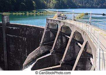 Glines Canyon Dam and Lake Mills