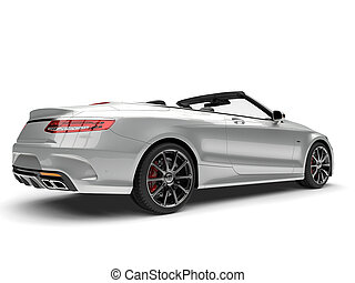 glissant, argent, moderne, luxe, voiture convertible