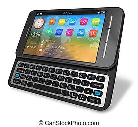 glisseur, touchscreen, smartphone, côté