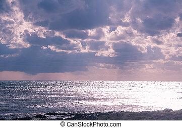Glistening sea.