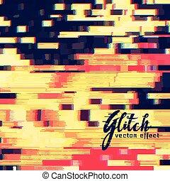 glitch, ベクトル, デザイン, 効果, 背景