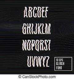 glitch, 効果, font.