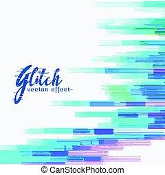 glitch, 抽象的, ベクトル, デザイン, 背景