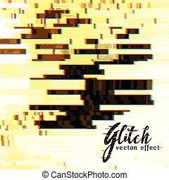 glitch, 抽象的, ベクトル, 背景
