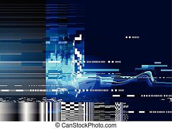 glitch, achtergrond, vervorming