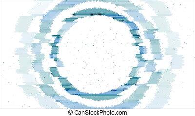 glitch, bleu, néon, mouvement, résumé, cercle, laser, fond