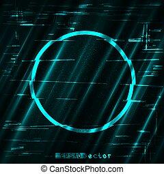 glitch blue circle light shape template