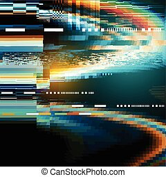 Glitch Distortion Background - A glitch noise distortion...