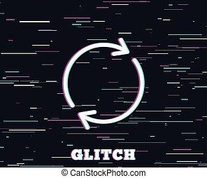 Refresh line icon. Rotation arrow sign.