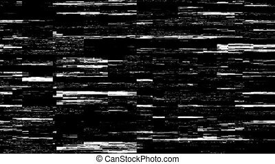 Glitch effect video displacement map. Black screen with ...
