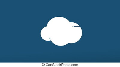 glitch, moderne, -, arrière-plan., animation, nuage