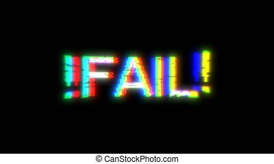 Glitch noise fail Technology, digital Tv screen. Video ...