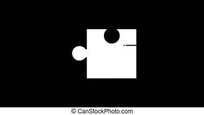 glitch, puzzle, moderne, -, arrière-plan., animation